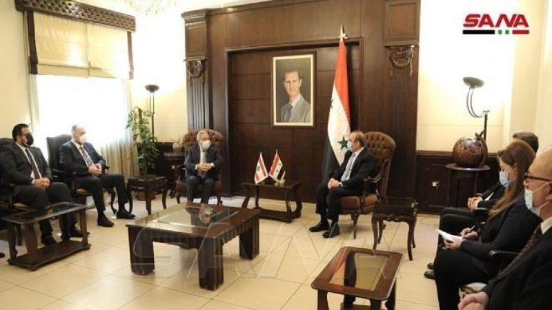 مشرفية بحث مع وزير الادارة المحليّة السوري في عودة اللاجئين