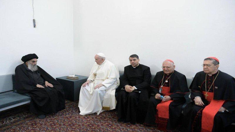 الاضطهاد حول العالم ولا سيّما في فلسطين المحتلة محور لقاء السيد السيستاني وبابا الفاتيكان