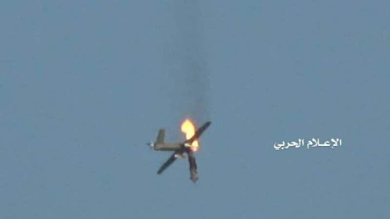 إسقاط طائرة تجسسية مقاتلة تابعة لسلاح الجو السعودي في سماء الجوف