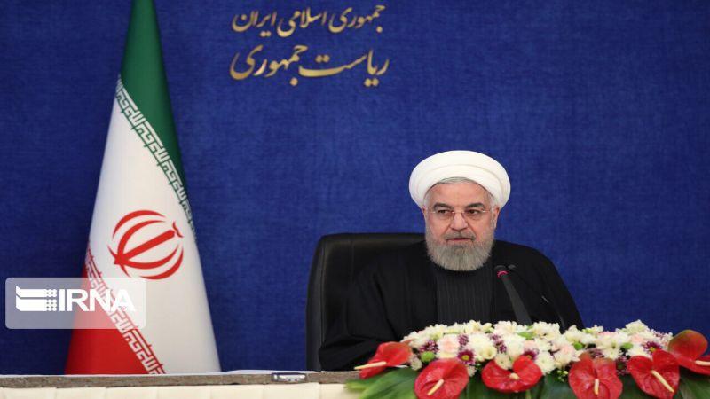 روحاني: الشعب الإيراني بصموده أمام الحرب الإقتصادية سطّر ملحمة نضالية جديدة