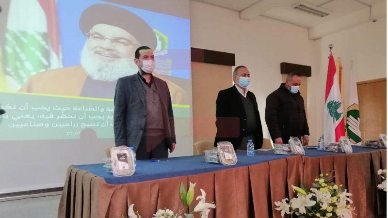 """حزب الله يفتتح مشروع """"ازرع أرضك بإيدك"""" في البقاع"""