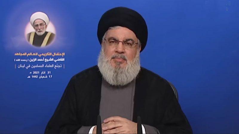كلمة السيد حسن نصر الله في الإحتفال التأبيني للراحل الشيخ أحمد الزين 31-3-2021