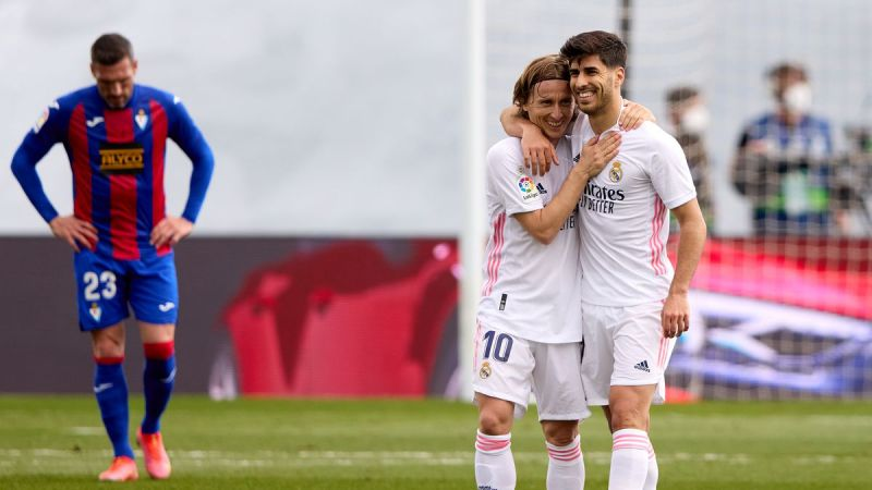 ريال مدريد ينتصر على إيبار ويوجّه رسالة واضحة لبرشلونة