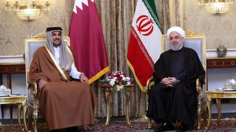 روحاني لأمير قطر: الوجود الإسرائيلي في المنطقة خطير