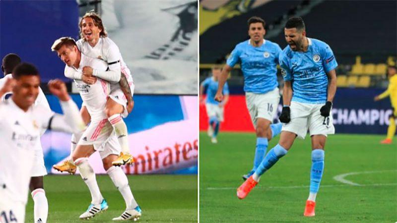 ريال مدريد ومانشستر سيتي إلى نصف نهائي دوري الأبطال