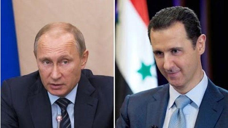 اتصال هاتفي بين الأسد وبوتين بحثا خلاله القضايا ذات الاهتمام المشترك