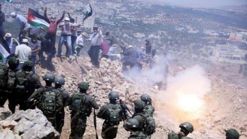 إصاباتٌ جرَّاء قمع الاحتلال لمسيرة رافضة للاستيطان شرقي نابلس
