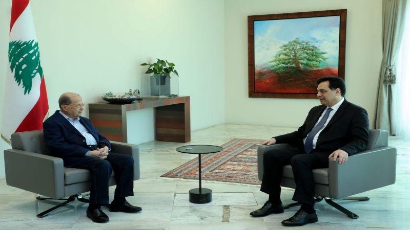 الرئيس عون يبحث ودياب البطاقة التمويلية