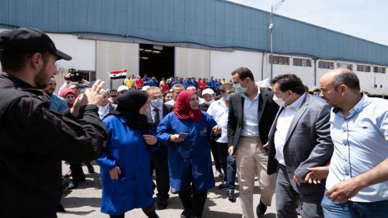الرئيس الأسد يزور مدينة حسياء الصناعية بحمص: البلد الذي لا ينتج ليس بلداً مستقلاً