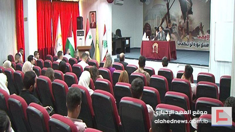 الحاج حسن للطلبة السوريين: أنتم مستقبل سوريا وعماد عودة ازدهارها