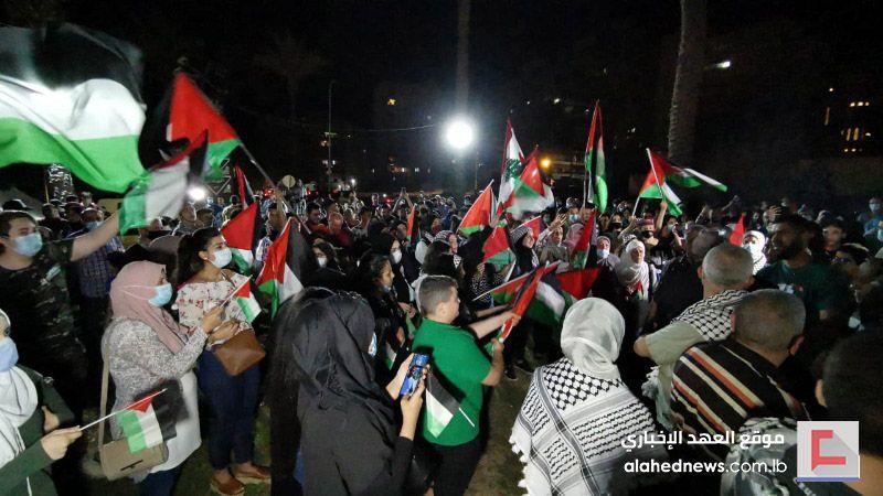 وقفة تضامنية مع القدس في ساحة الشهداء بصيدا