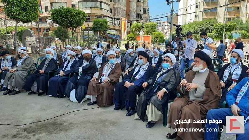 وقفة تضامنيّة علمائيّة في حي ماضي نصرة للقدس والشعب الفلسطيني