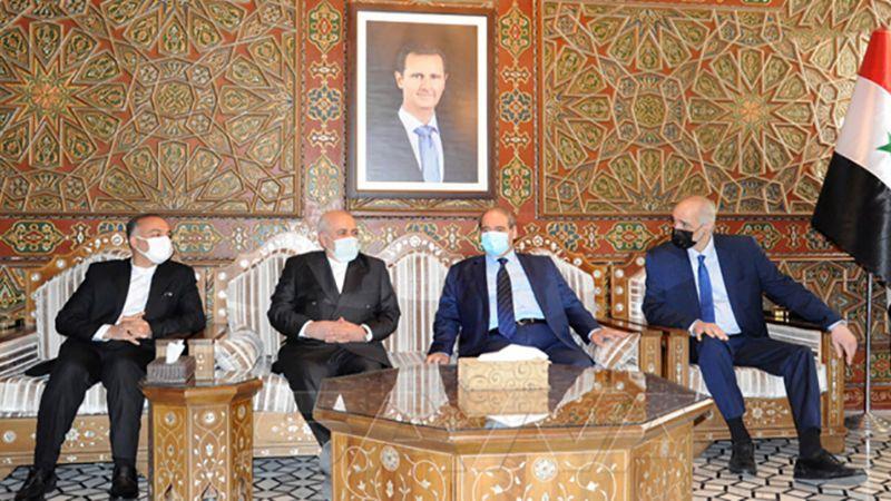 ظريف في دمشق.. الدعم الإيراني لسوريا محور المباحثات
