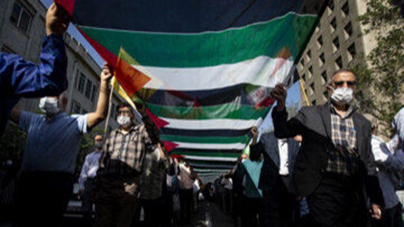 مسيرة حاشدة في العاصمة الإيرانية دعمًا لفلسطين
