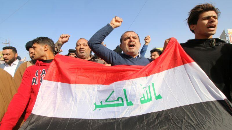 العراق : تواصل ردود الافعال الرافضة للعدوان الصهيوني، ومسيرات في بغداد والمحافظات