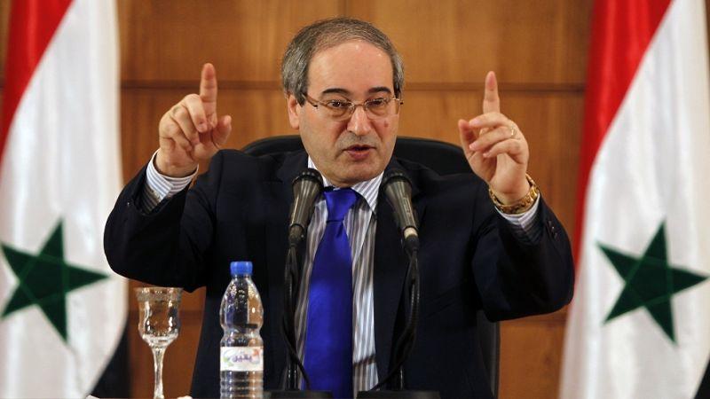 وزير الخارجية السوري: مستعدون لأي شيء تطلبه فلسطين