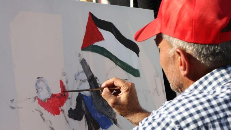 بالصور.. مرسم فني لكشافة الإمام المهدي في صيدا يعكس ألوان القدس