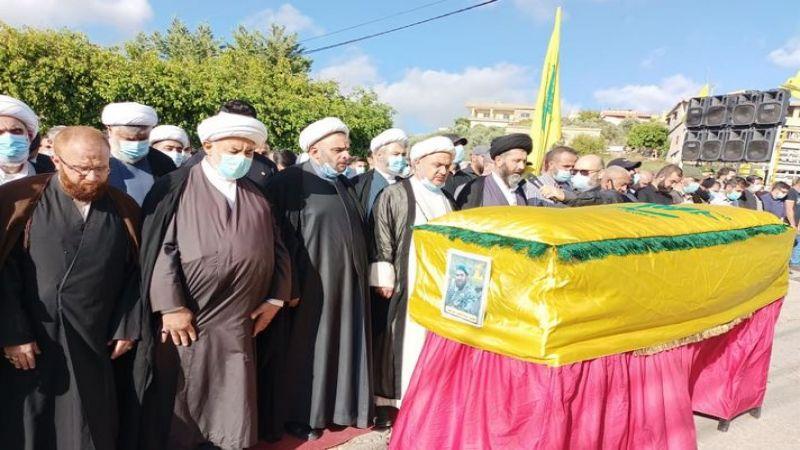 حزب الله شيّع فقيد الجهاد والمقاومة محمد رضا كمال (الشيخ كمال) في بلدته دبعال