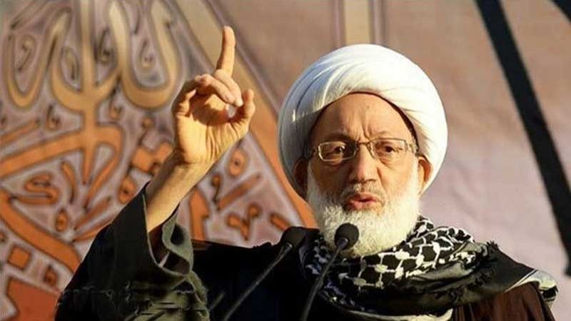آية الله قاسم يحمّل سلطات البحرين مسؤولية أي خطر يصيب الشيخ عبد الجليل المقداد