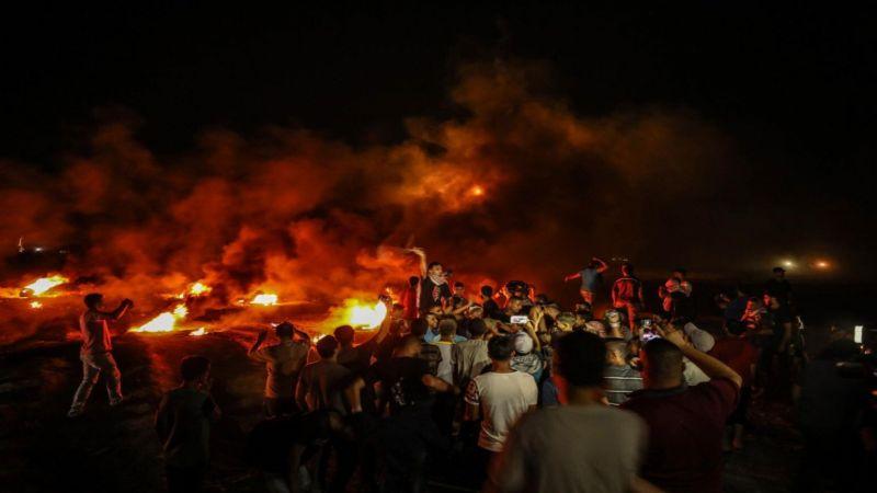وحدات الإرباك الليلي تستأنف فعالياتها على حدود غزة