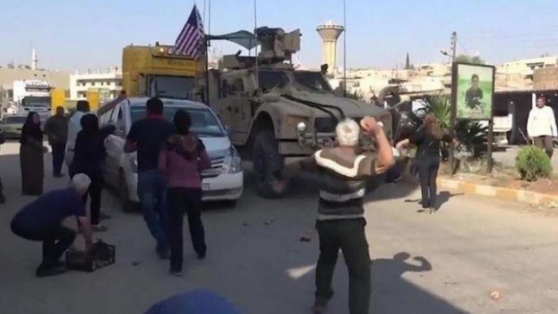 """أهالي قرية فرفرة بريف الحسكة يُجبرون القوات الأمريكية و""""قسد"""" على التراجع"""
