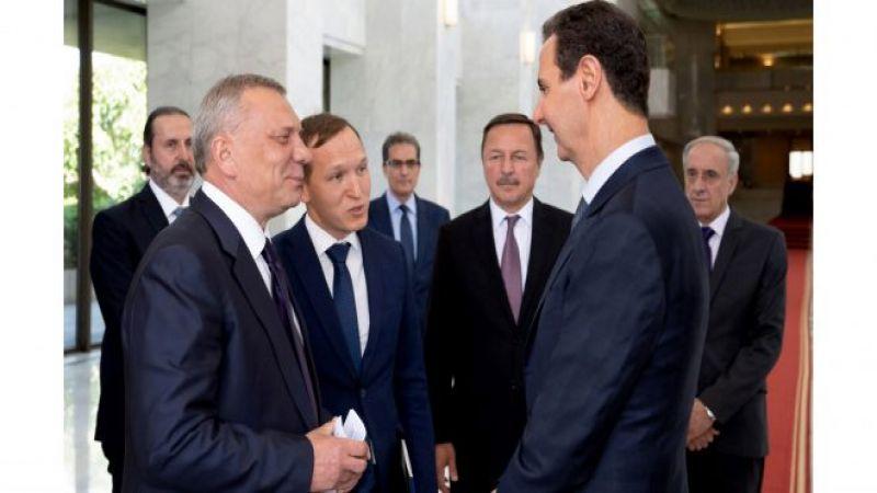 وفدٌ روسي يلتقي الأسد.. وإتفاق على توسيع التعاون الإقتصادي