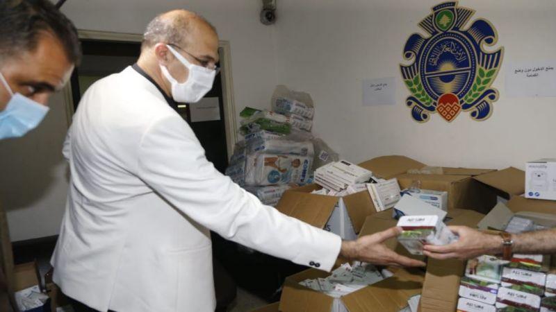 حسن كشف على أدوية ضبطها الأمن العام في شقة سكنية