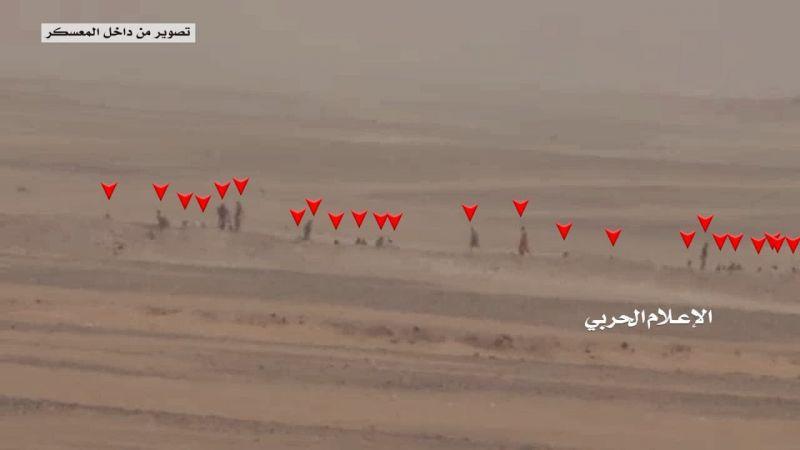 بالفيديو .. مشاهد نوعية لعملية استهداف معسكر العدوان في الوديعة