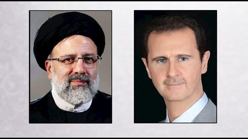 الرئيس الأسد يهنئ السيِّد رئيسي بفوزه في الإنتخابات الرئاسية الإيرانية