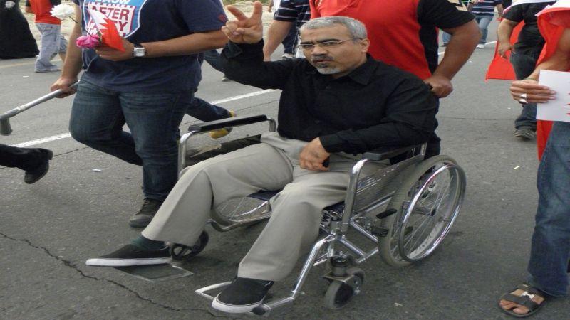 بسبب سوء المعاملة.. صحة المعارض البحريني عبد الجليل السنكيس تتدهور