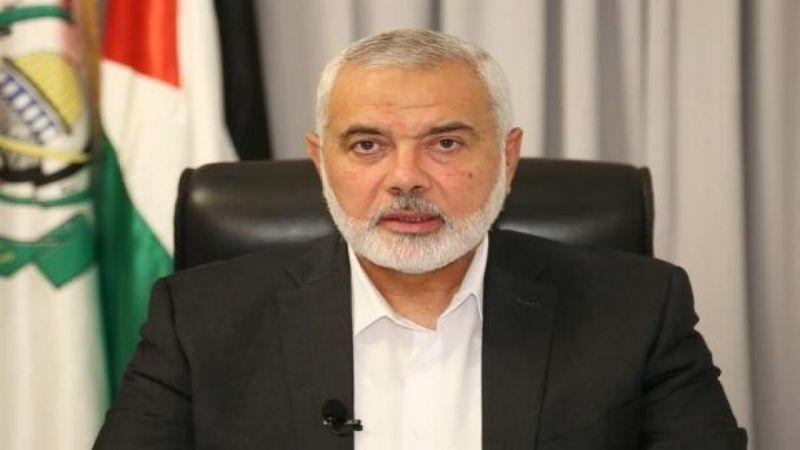 هنية للسيد رئيسي: علاقتنا مع إيران قوية وراسخة وثابتة
