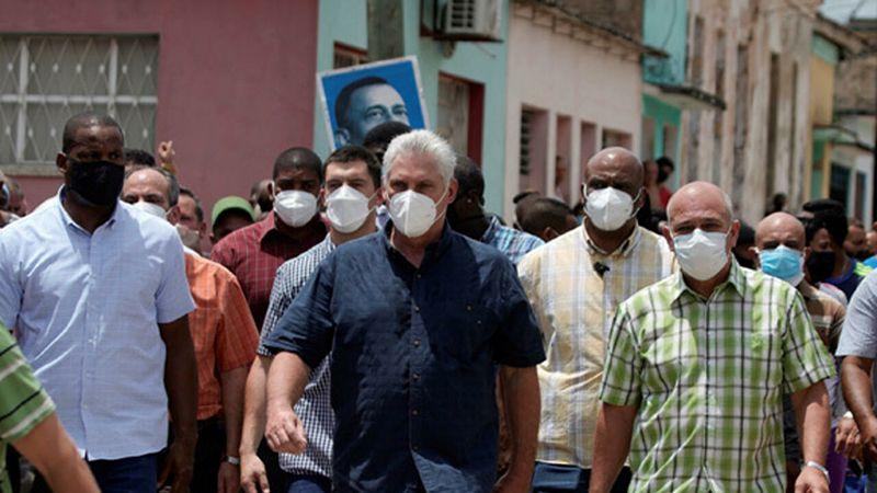 الرئيس الكوبي: الولايات المتحدة تثير الإضرابات في بلدنا