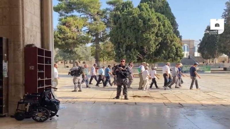 في يوم عرفة: الاحتلال يؤمّن اقتحامات عشرات المستوطنين للمسجد الأقصى