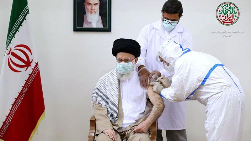 الإمام الخامنئي تلقى الجرعة الثانية من لقاح كورونا الإيراني