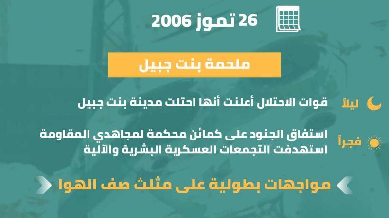 بنت جبيل تسقط غطرسة العدو في مثل هذا اليوم من العام 2006