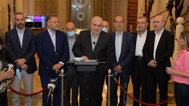 """""""الوفاء للمقاومة"""": لتشكيل حكومة تُطمئن اللبنانيين ولا تتركهم رهينة المافيات"""