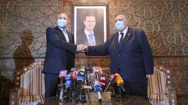 قاليباف من دمشق: أولوياتنا زيادة حجم التبادل التجاري بين البلدين