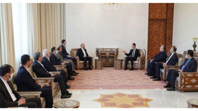 الأسد لـ قاليباف: إيران شريك أساسي لسورية والتنسيق في مكافحة الإرهاب أثمر نتائج إيجابية