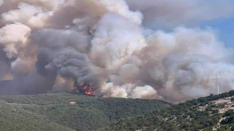 حريق القبيات الهرمل الضخم مستمرّ وحزب الله يستنفر فرقه لإخماده