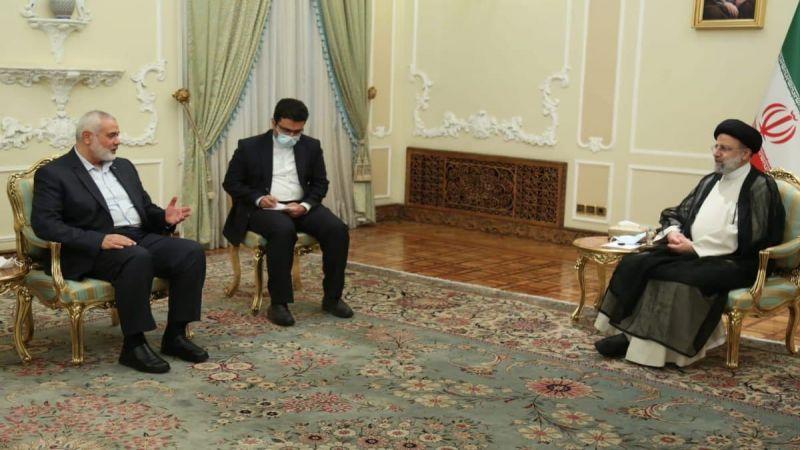 السيد رئيسي يستقبل هنية والنخالة ويؤكّد دعم إيران الدائم للقضية الفلسطينية