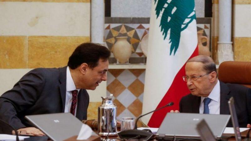 """عون يدعو مجلس الوزراء للانعقاد """"للضرورة القصوى"""".. دياب يرد: لن أخرق الدستور"""