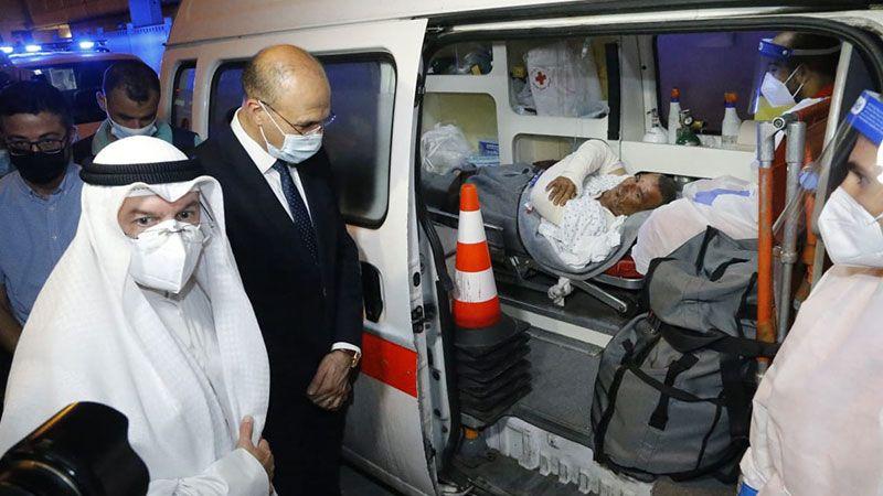 حسن يشكر من المطار الكويت على إجلائها 6 مصابين في انفجار التليل