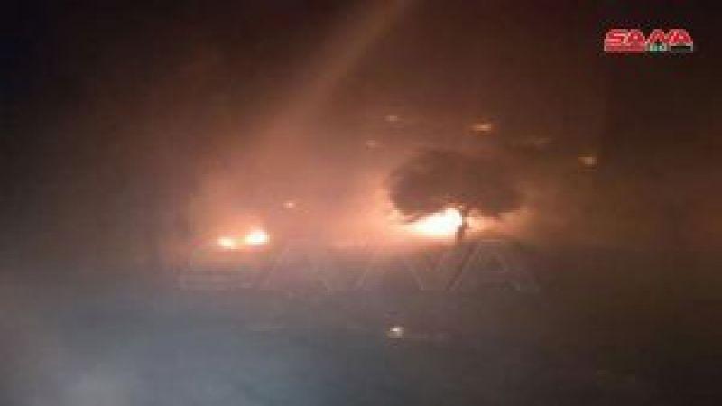 قوات الاحتلال الإسرائيلي تفتعل حريقًا في ريف القنيطرة
