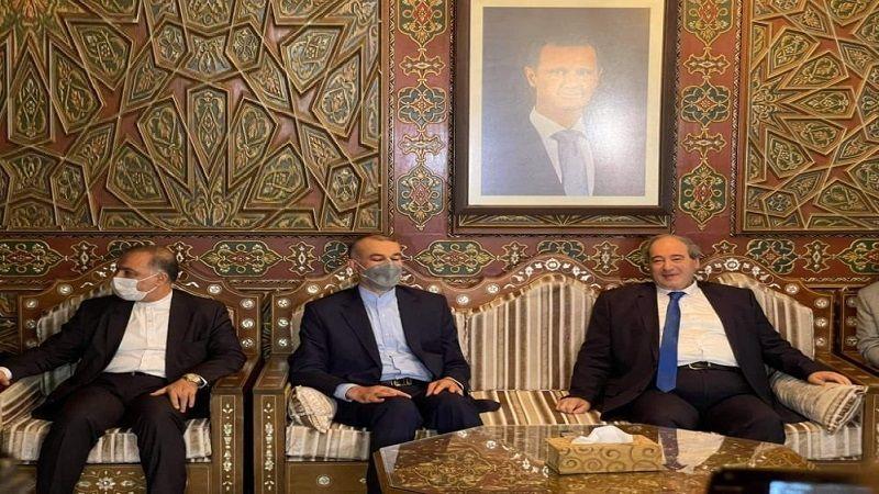وزير الخارجية الإيراني الجديد من دمشق: سنقوم بخطوات جبارة لمواجهة الإرهاب الاقتصادي
