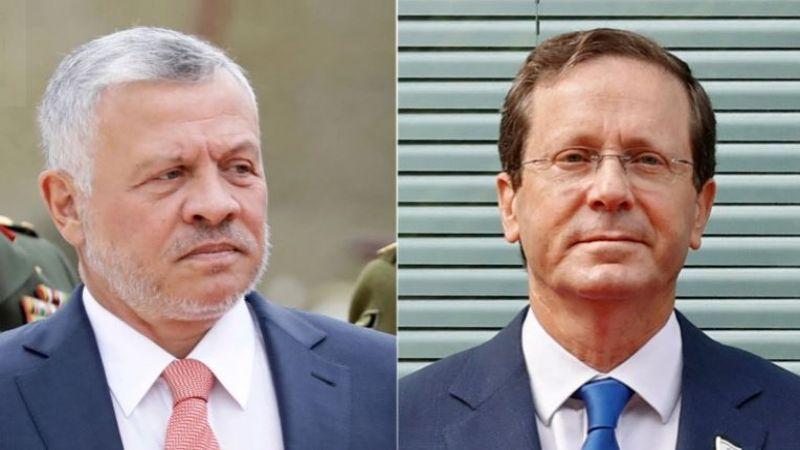 الرئيس الصهيوني زار سرًا الأردن والتقى الملك عبد الله
