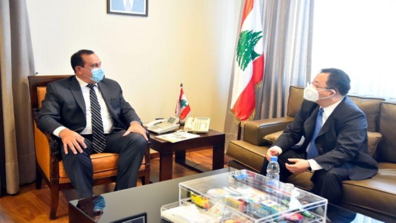 تمنٍّ لبناني على الصين لدعم القطاع الصناعي وإقامة مشاريع الطاقة البديل