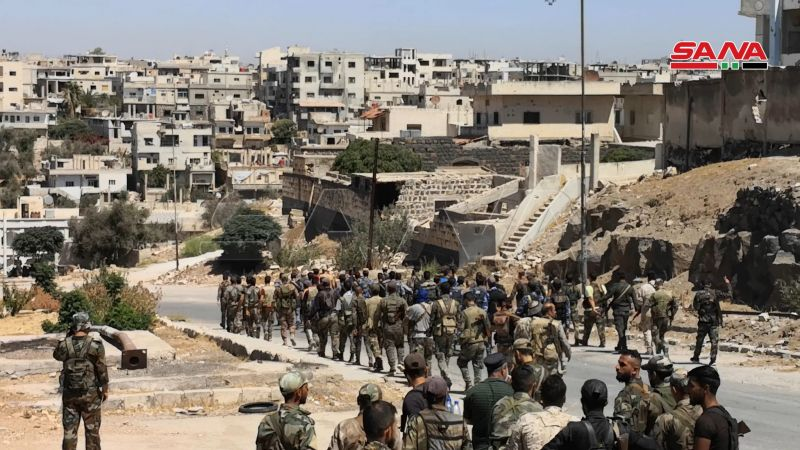 الجيش السوري يدخل درعا البلد