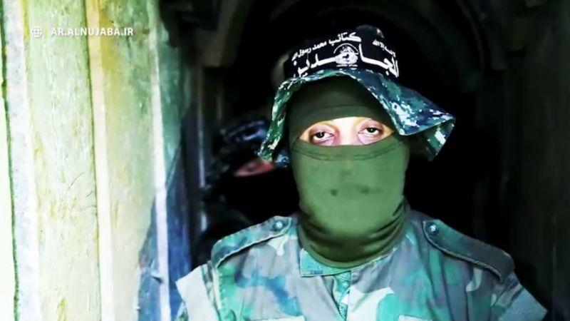 من داخل أنفاق غزة العسكرية تحية لحركة النجباء والشيخ الكعبي
