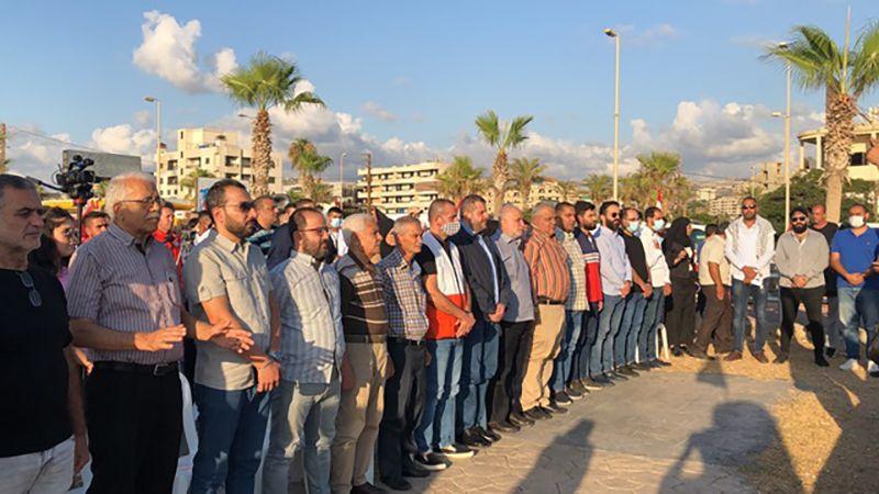 وقفة لبنانية فلسطينية في صيدا دعمًا للأسرى في سجون الاحتلال