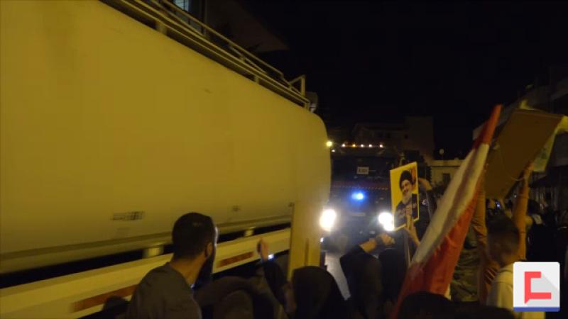 """بالفيديو: مازوت """"كسر الحصار"""" يصل البقاع الغربي: تهديد حياة المواطن أصبح من الماضي"""